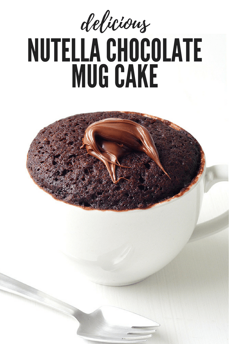 Nutella Chocolate Mug Cake For One | Recipe | Chocolate ...