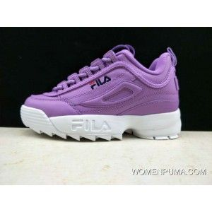 37d88d5bf4c0 Womens Fila Disruptor Ii Premium Purple Blue Red Shoes New Year Deals