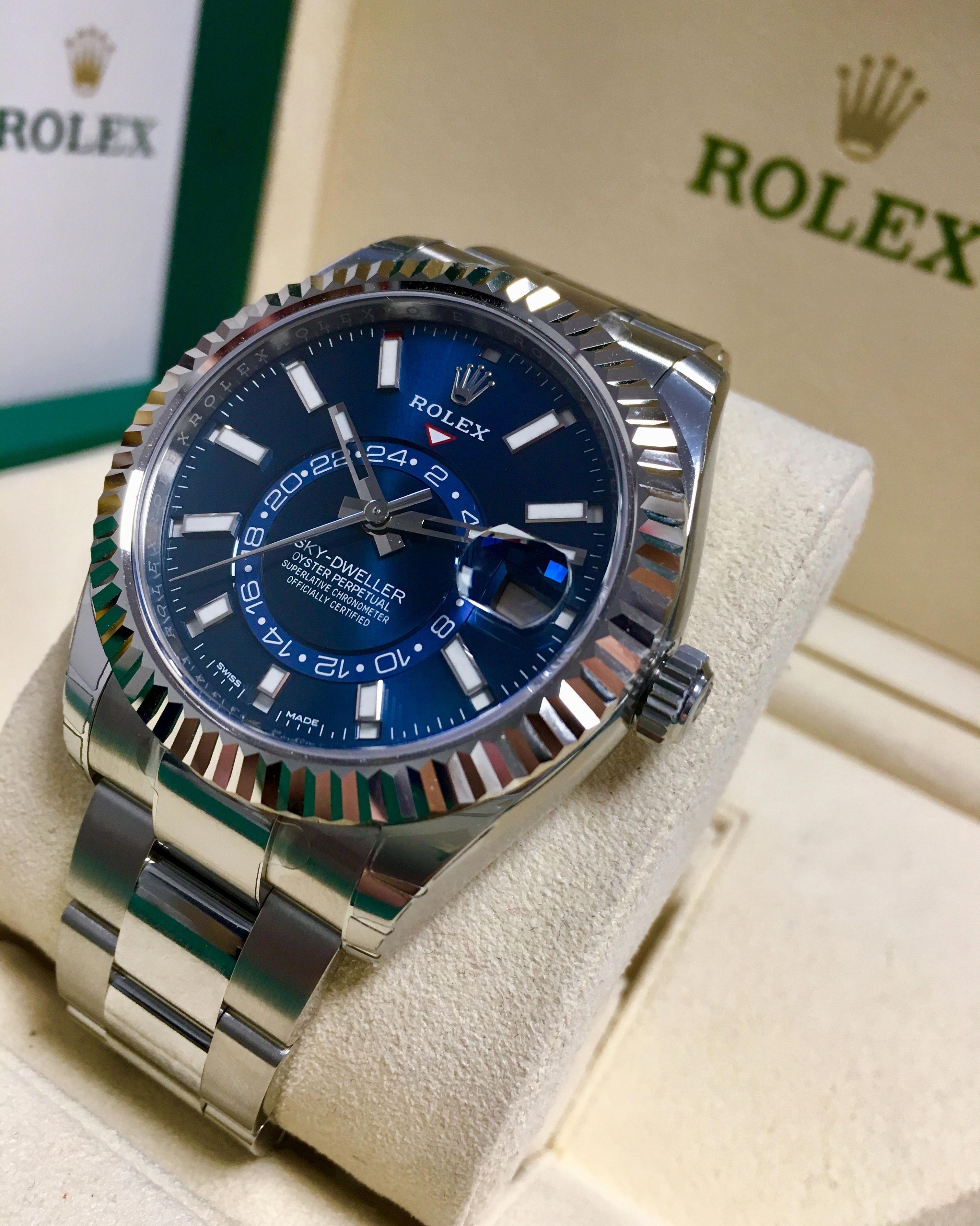 Rolex Sky Dweller Stainless Steel Blue Dial 326934 Menswatches Rolex Watches Rolex Luxury Watches For Men