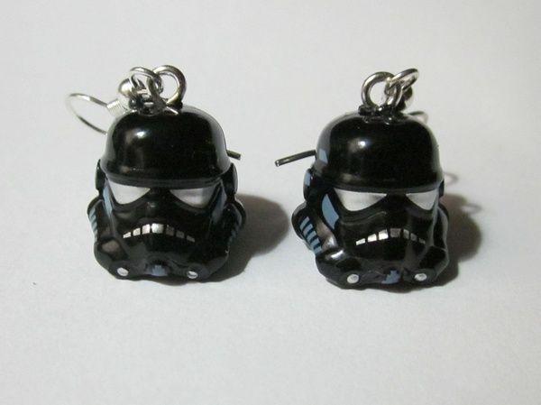 LEGO Star Wars Shadow Trooper Helmet Earrings by OaktopiaDesign geeky-stuff