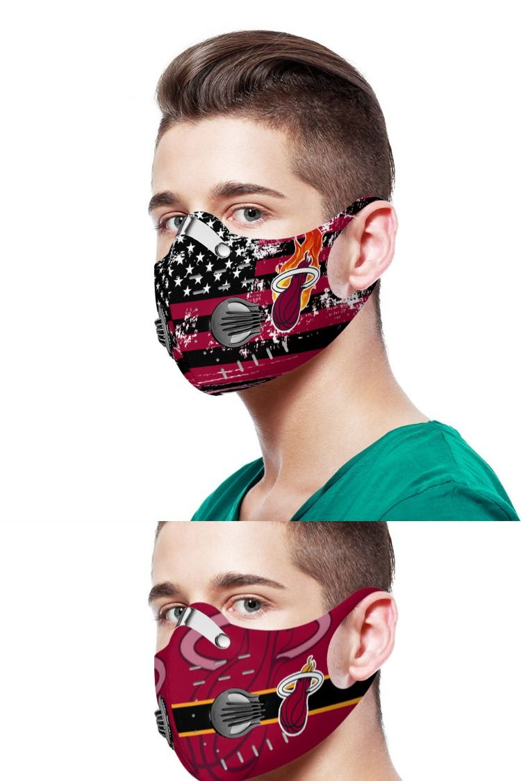 Miami Heat Mask In 2020 Miami Heat Breathing Mask Mask