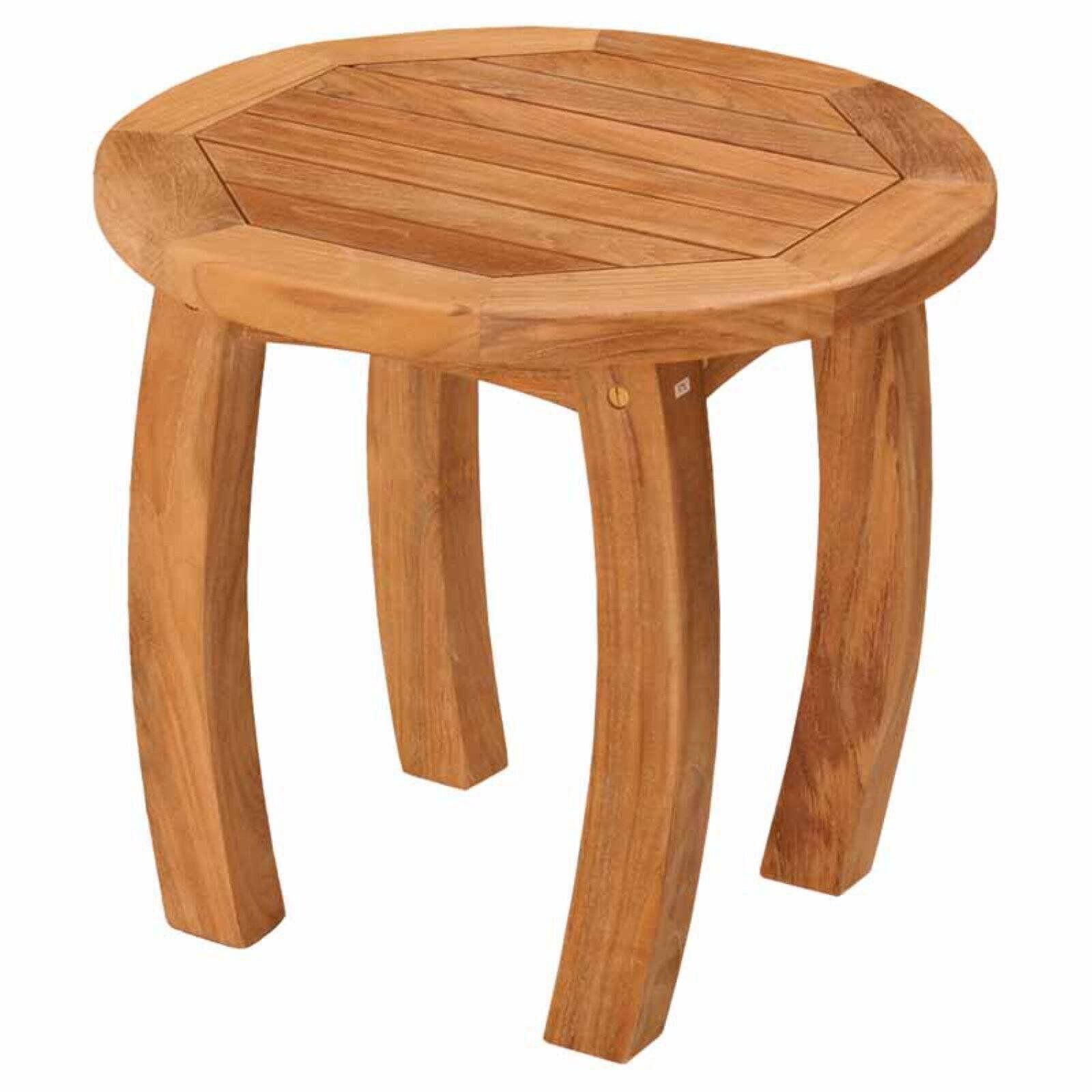 Tortuga Outdoor Jakarta 20 In Round Wood Side Table Walmart Com In 2020 Round Wood Side Table Side Table Wood Teak Table