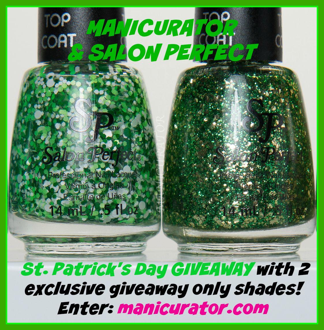 Salon-Perfect-St-Patrick\'s-Nail-Art-Giveaway | Giveaways | Pinterest ...