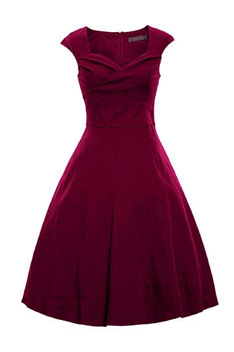 LUOUSE Vintage 1950 s Audrey Hepburn robe de soirée cocktail, bal style  années 50, Rockabilly, Swing 6107579f885e