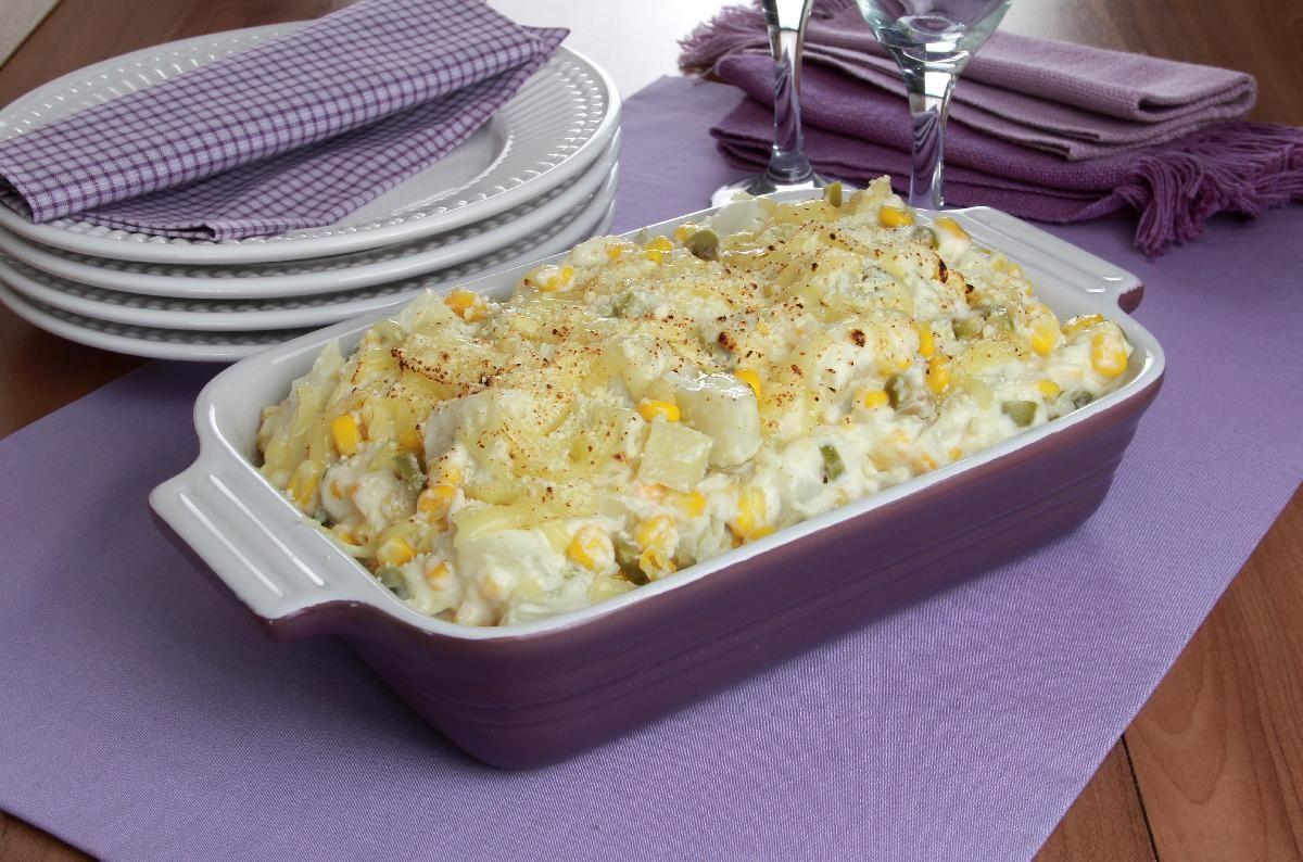 Clique e veja a receita de Batata gratinada com milho! Também veja dicas de como fazer Batata gratinada com milho com ingredientes deliciosos e se tornar um verdadeiro chef de cozinha!