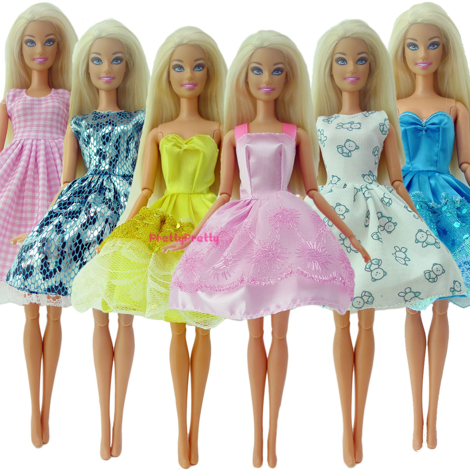 Doll Tank Clothes For 12 in Skirt 5 Outfits Fashion Cute Dress Daily  Pants