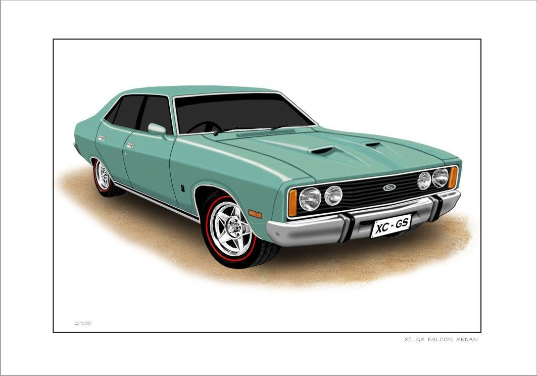 XC GS FALCON SEDAN. FOR SALE IS A LIMITED EDITION PRINT (100 ...
