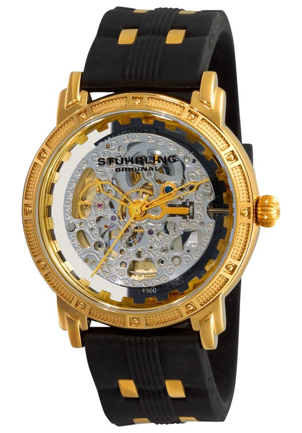 Price 126 25 Watches Stuhrling Original 165c 33362 If You Are Going To Wear A Mechanical Timepiece Why Not Show It Off With A Skeleton Dial For Everyone To S