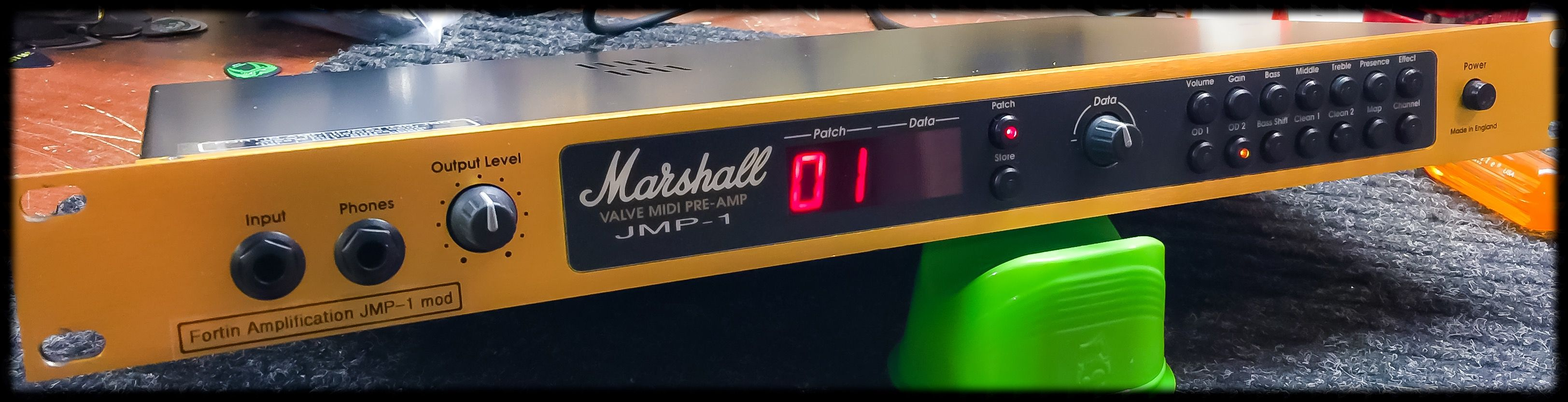 Fortin modded Marshall JMP-1: All modes revoiced, cleans have more