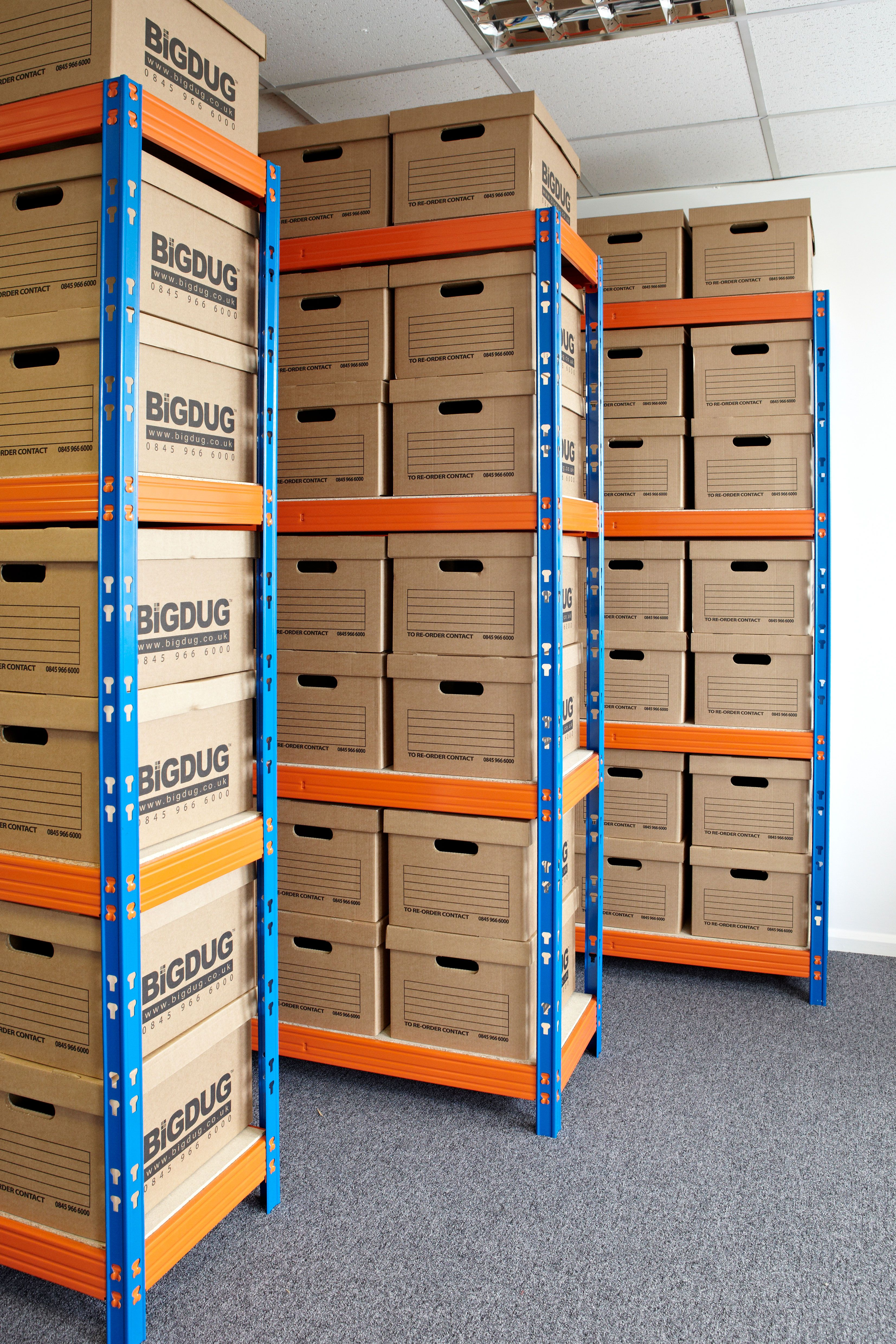 Archive Storage Racking With Heavy Duty Boxes & Archive Storage Racking With Heavy Duty Boxes | Stockroom Storage ...