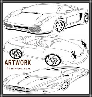رسومات اطفال فنية سهلة وبسيطة رسم وتلوين سيارات اطفال Car Drawings Easy Drawings Toy Car