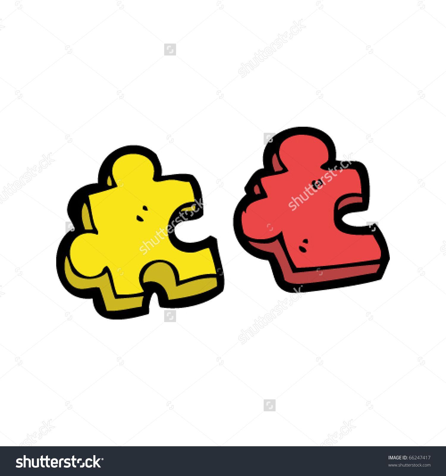 stock vector puzzle pieces cartoon 66247417 jpg 1500 1600 as