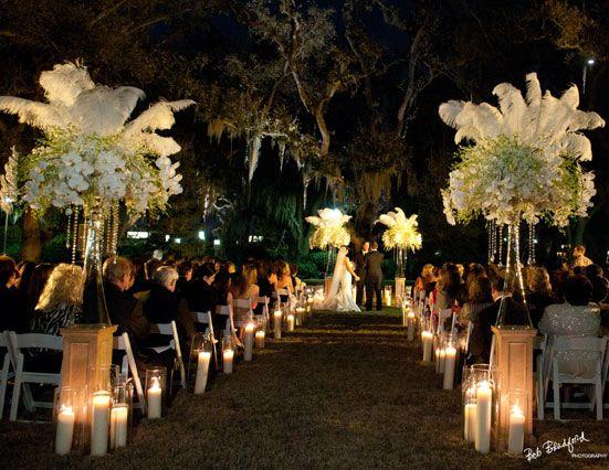 New Orleans Weddings . Magical Night Time Wedding- Minus