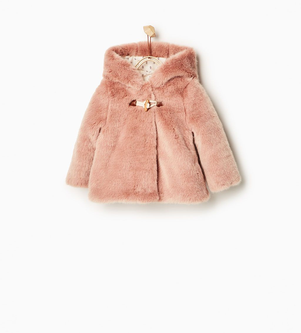 Three quarter length faux fur coat-COATS-Baby girl-Baby | 3 months