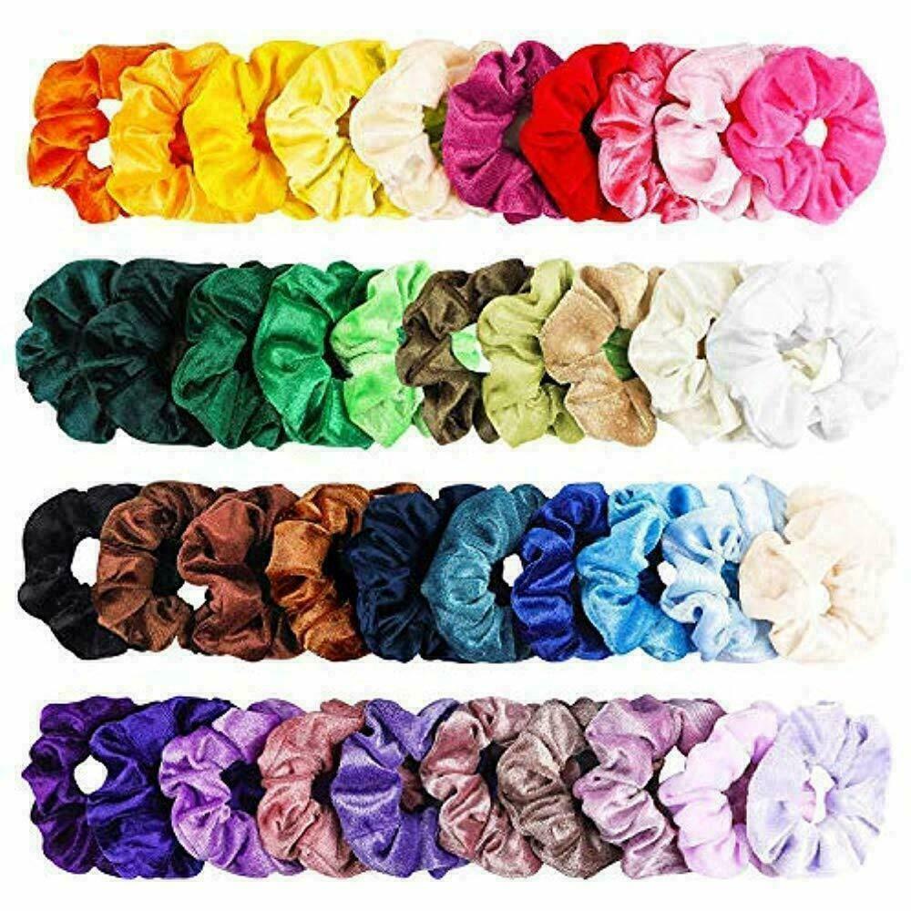40Pcs Colorful Velvet Hair Scrunchies Set Elastic Hair Bobbles for Ponytail USA