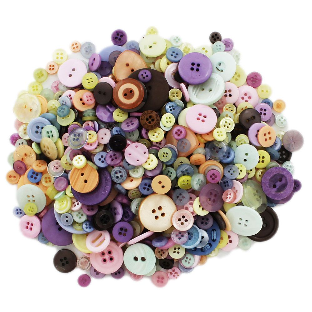 Pastel Buttons | Card Making & Craft Embellishments at The Works
