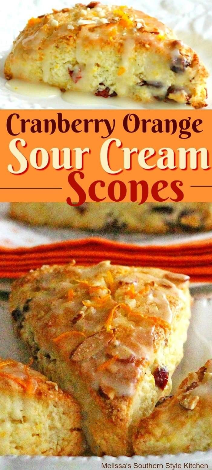 Cranberry Orange Sour Cream Scones In 2020 Sour Cream Scones Scone Recipe Brunch Recipes