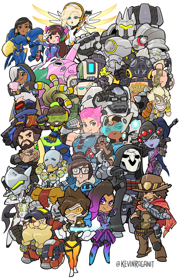 Overwatch Heroes Groupshot By Kevinraganit Deviantart Com On