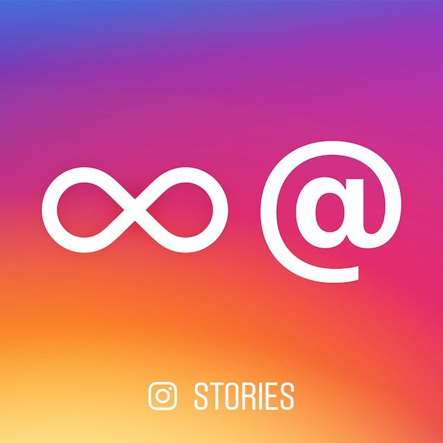 Boomerang and Mentions in Stories Instagram, Social