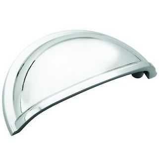 cabinet hardware polished chrome cup pulls