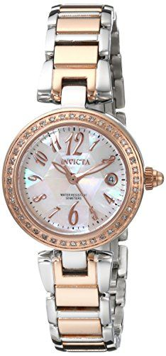 Women's Wrist Watches - Invicta Womens  15872SYB  Angel Rose GoldTone Stainless Steel Watch *** Want additional info? Click on the image.