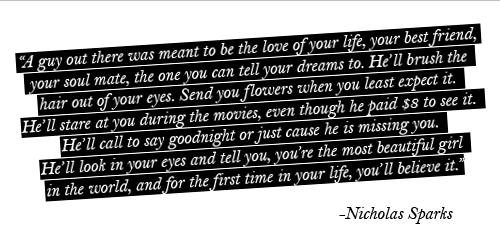 Nicholas Sparks.