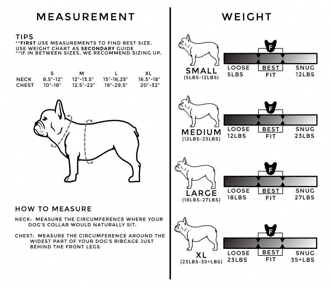 Frenchie Pet Supply Sizing Chart Petinsurancefordogs Pet