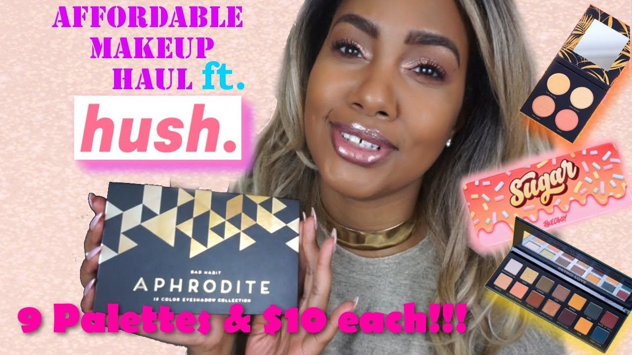 $10 MAKEUP PALETTE HAUL!!! | FT  SHOP HUSH | Makeup Reviews