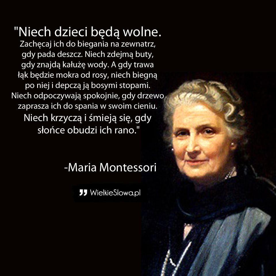 Cytaty Sentencje I Aforyzmy Ktore Odmienia Twoj Dzien Words Quotes Maria Montessori