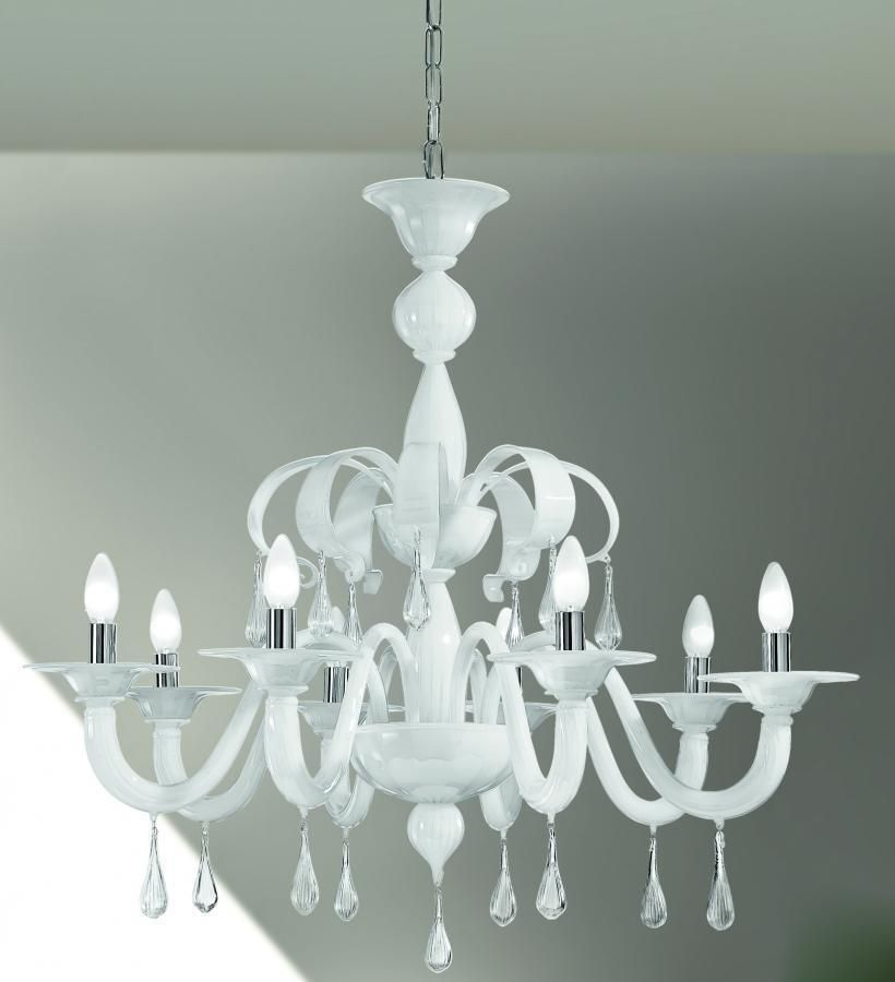 Vetrilamp Lampadario In Vetro Di Murano 1184 8 Murano Glass Chandelier Glass Chandelier Custom Chandelier