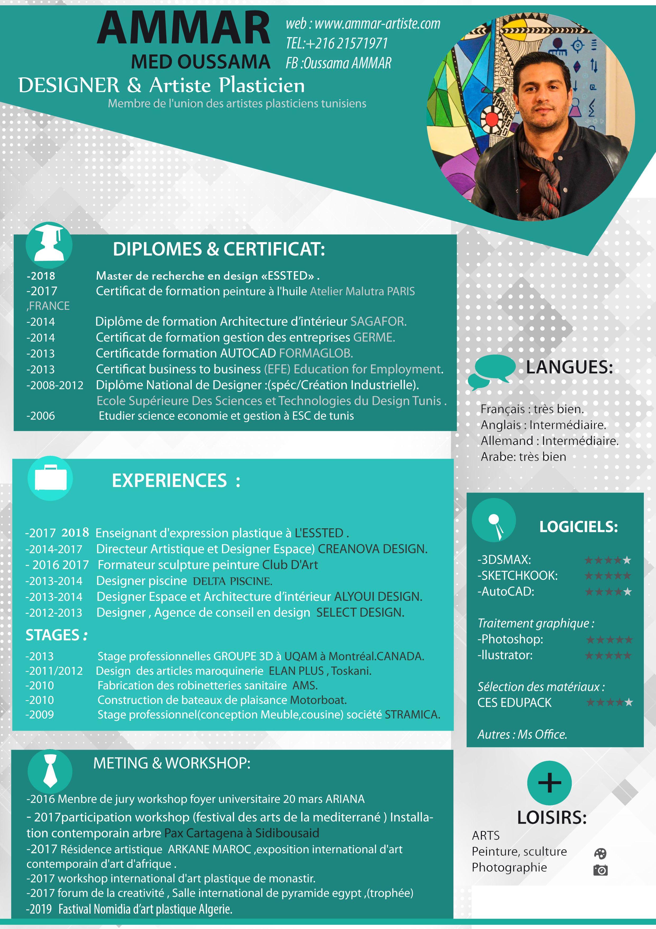 Cv Exemple Design Artist Tunisia