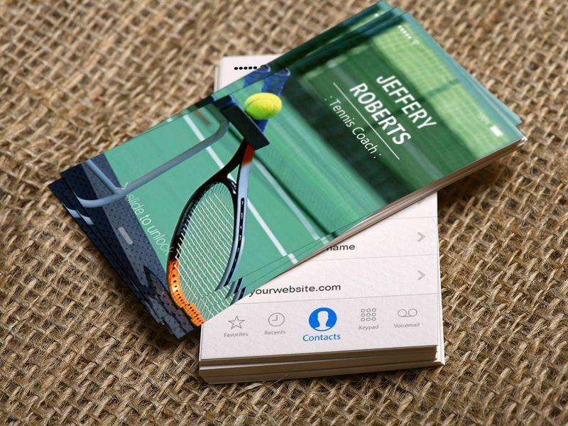 Creative Tennis Coach Tennis Trainer Business Card   Tennis trainer ...