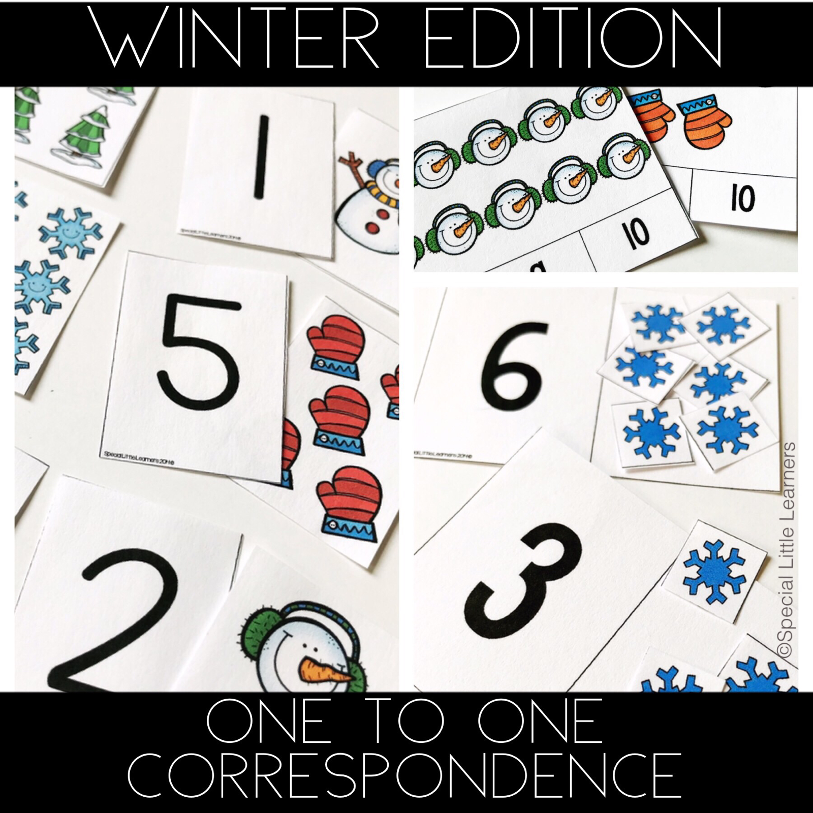 Counting Amp One To One Correspondence Activities Winter Edition