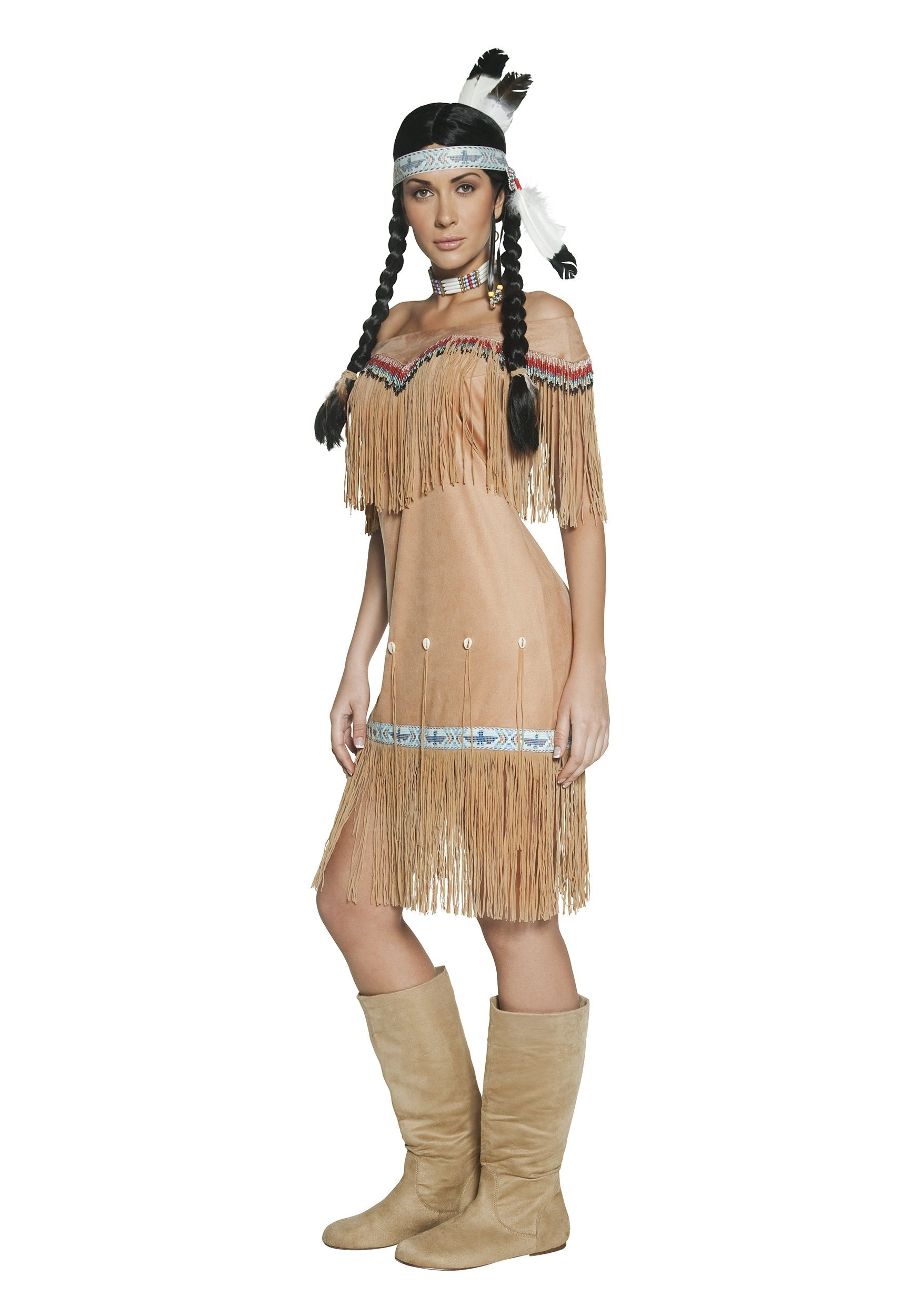 this womens native american costume isnt exactly what they wore back on the plains - Native American Costume Halloween