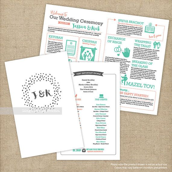 Jewish Wedding Ceremony Infographic Guide By LingsDesignStudio