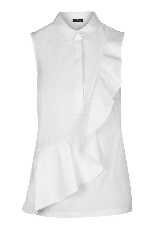 Short Sleeve Ruffle Shirt - Tops - Clothing | Ruffle shirt ...