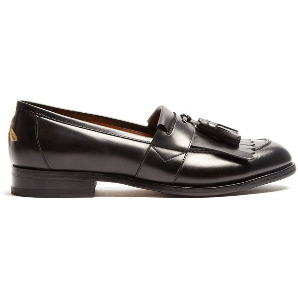 d553959720fb1 Gucci Tassel leather loafers ($890) ❤ liked on Polyvore featuring ...