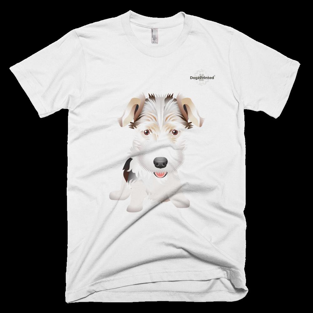 Fox Terrier - White - 100% Cotton - Unisex T-Shirt