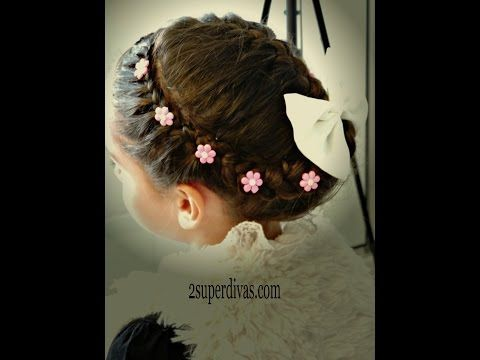 Recogido con Corona Trenzada - Braided Crown Updo | Peinados para Fiesta | Peinados Elegantes - YouTube