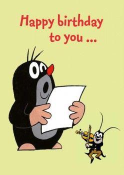 Postkarte A6 Der Kleine Maulwurf Mw Happy Birthday To You