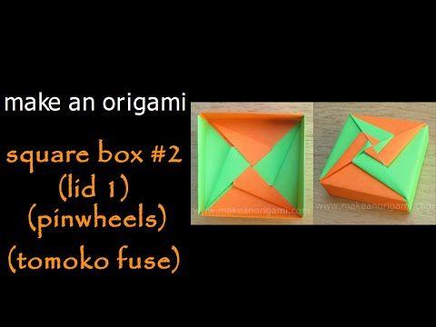 make an origami square box 2 lid 1 pinwheels tomoko fuse rh pinterest ch