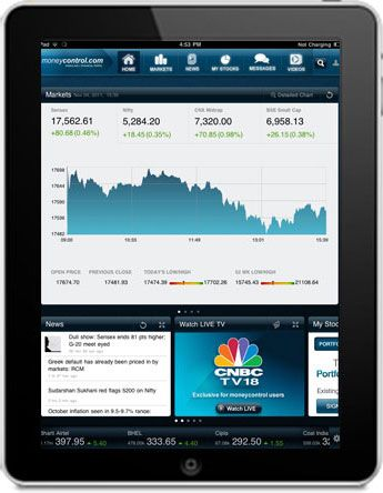 Stock Market on your iPad, Stock Quote, Share Price, Stock