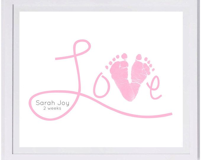 Baby Footprint Art, Forever Prints hand and footprint keepsake for kids or baby. Mother's Day, New Mom, Nursery Art Baby In loving memory. #grandpagifts