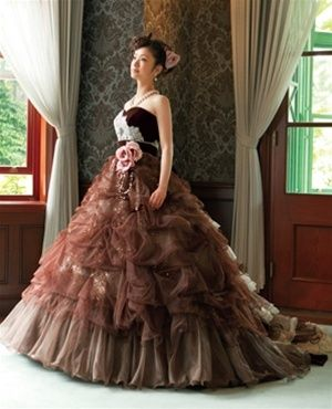 Chocolate Brown Wedding Dress Available In Every Color Brown Wedding Dress Stylish Wedding Dresses Brown Ball Dresses