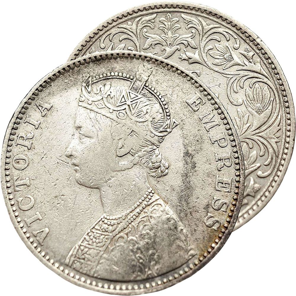 1901 British India Victoria Silver One Rupee Coin Www Numismaticland Co Uk Obverse Queen Victoria Surrounded By Gold And Silver Coins Ancient Coins Old Coins
