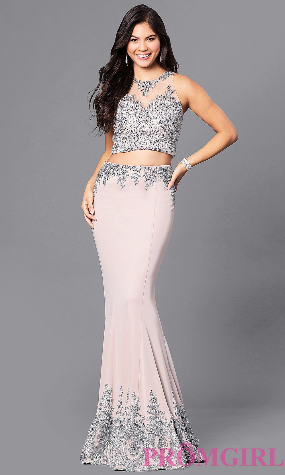 Dave and johnny twopiece long prom dress gowns pinterest long
