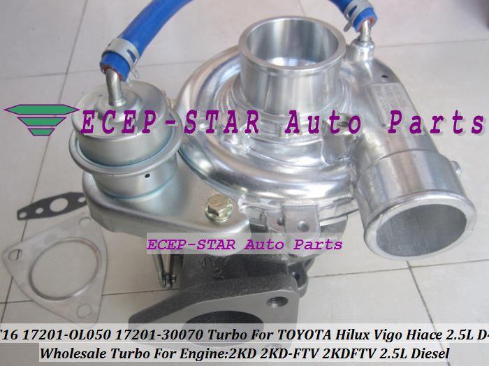 Ct16 17201 Ol050 17201 30070 17201 30070 Turbo Turbocharger For
