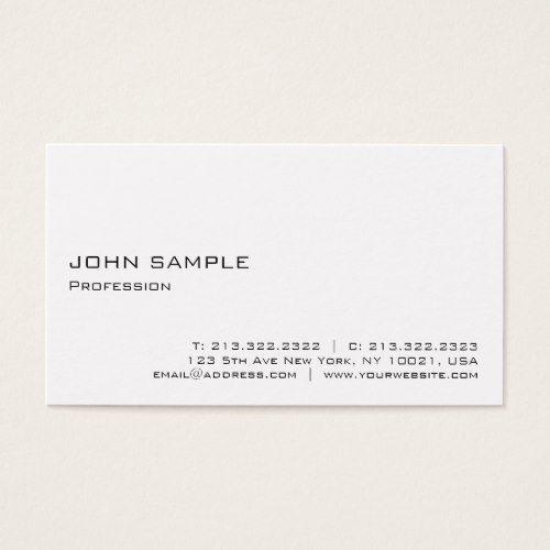 Realtor Resume Minimalist Modern Elegant Professional White Business Card