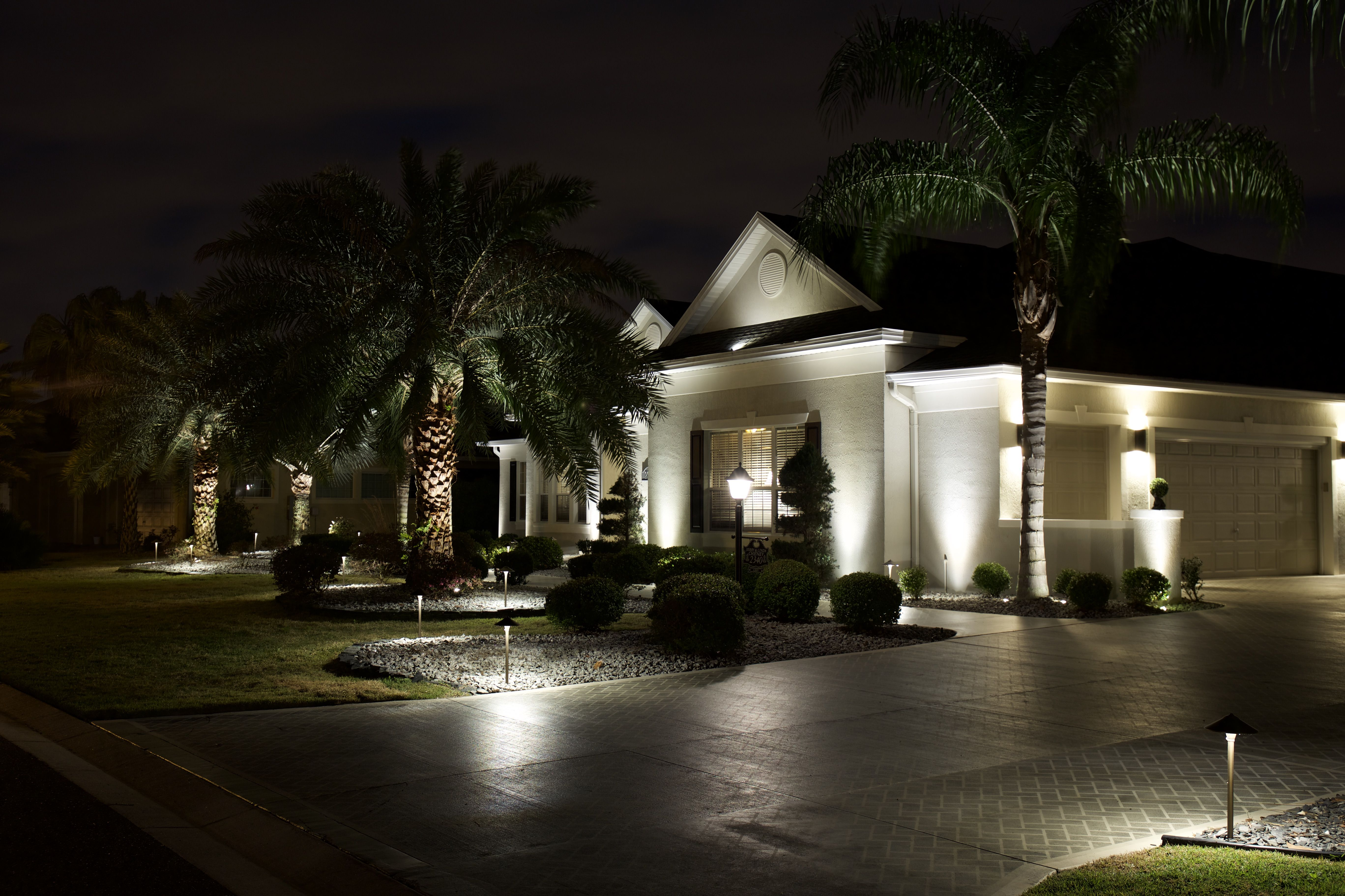 Beautifully lit home courtesy of volts landscape lighting house beautifully lit home courtesy of volts landscape lighting mozeypictures Gallery