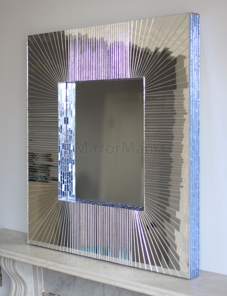 . Chelsea Mosaic Modern Square Wall Mirror   Deluxe   All Mirrors